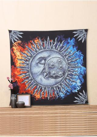 Target & Moon Rectangle Tapestry