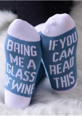 Bring Me a Glass of Wine Soft Socks