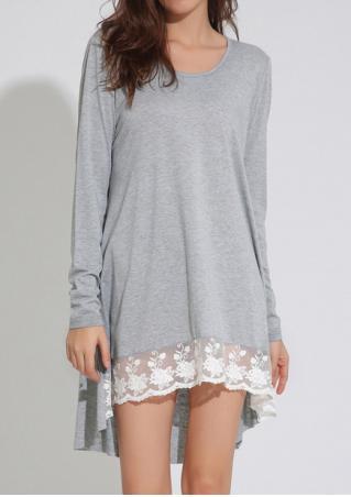 Asymmetric Lace Hem Dress
