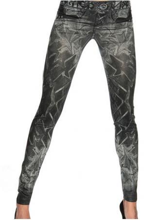 Printed Skinny Stretchy Leggings