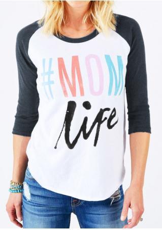 Mom Life Baseball T-Shirt