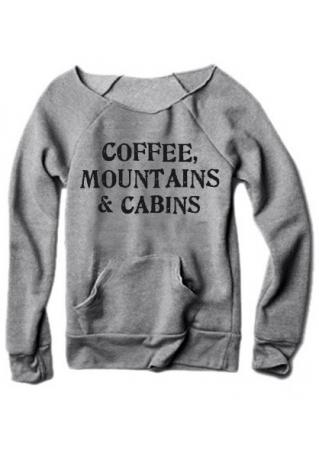 Coffee Mountains & Cabins Sweatshirt