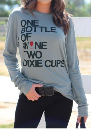 One Bottle of Wine Long Sleeve T-Shirt