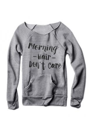 Morning Hair Don't Care Pocket Sweatshirt