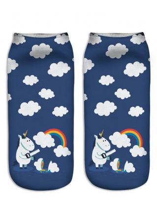 Emoji Unicorn Socks