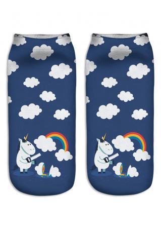 Emoji Unicorn Socks