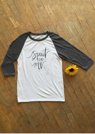 Spirit Lead Me Baseball T-Shirt