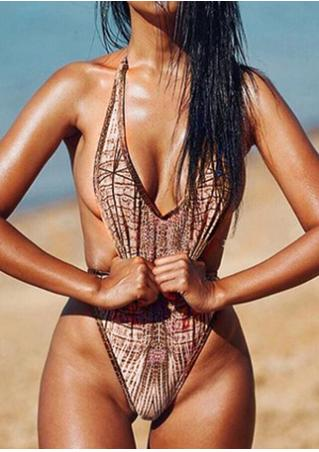 Snakeskin Grain Swimsuit