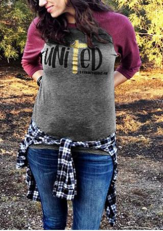 1 Corinthians 1:10 United Baseball T-Shirt