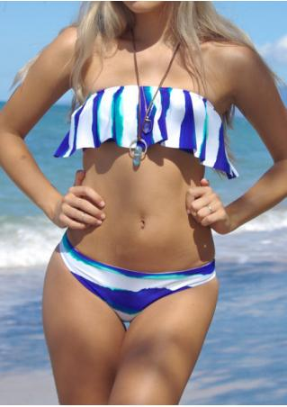 Printed Bow Bikini Set without Necklace