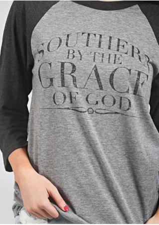 Southern by the Grace of God Baseball T-Shirt