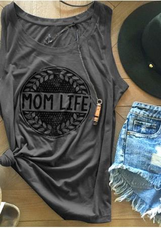 Mom Life Olive Branches Tank