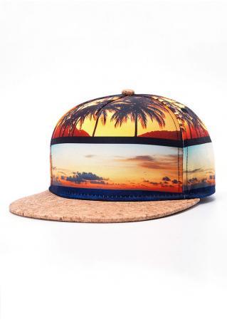 Beach Coconut Palm Adjustable Hat