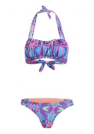 Ruffled Halter Bikini Set