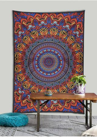 Mandala Color Block Tapestry