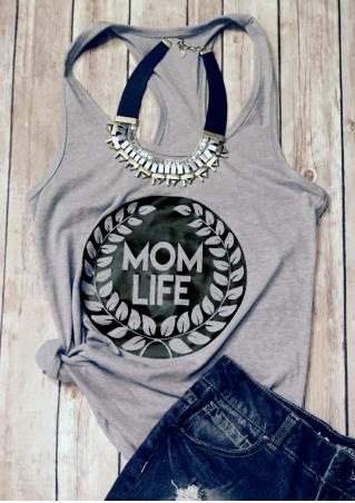Mom Life Olive Branch Sleeveless Tank