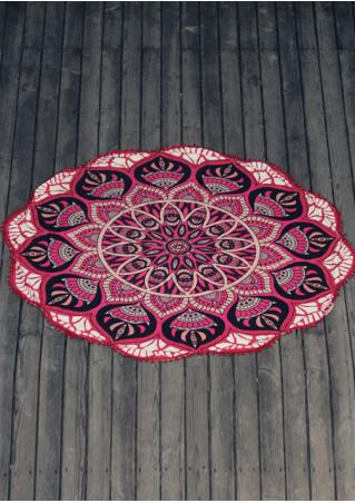 Mandala Tassel Beach Blanket