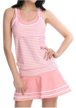 Striped Drawstring Tankini