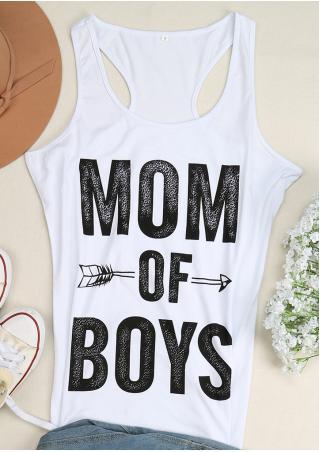 Mom of Boys Arrow Tank