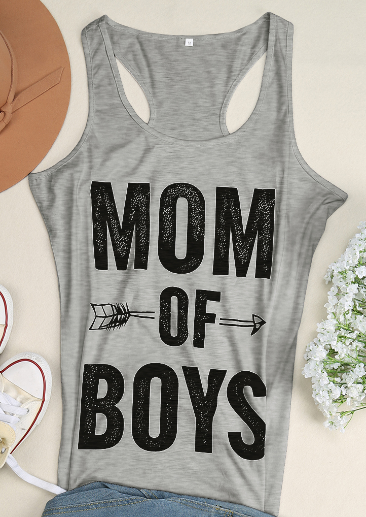 Mom Of Boys Arrow Tank Bellelily