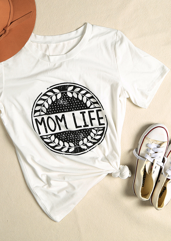 wholesale sales beautiful and charming vivid and great in style Mom Life Olive Branch T-Shirt - Bellelily