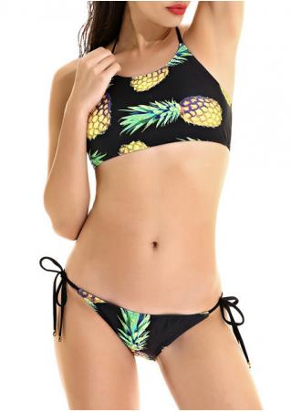 Pineapple Halter Bikini Set