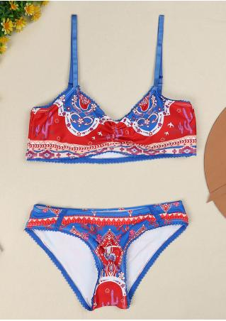 Floral Bull Skull Lace Bikini Set without Necklace