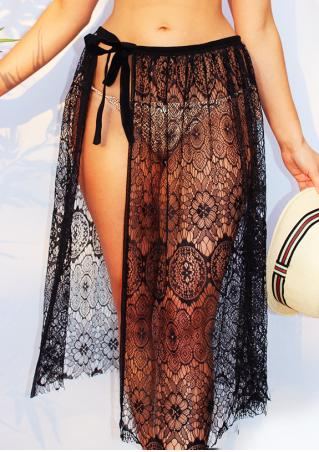 Solid Lace String Sarong
