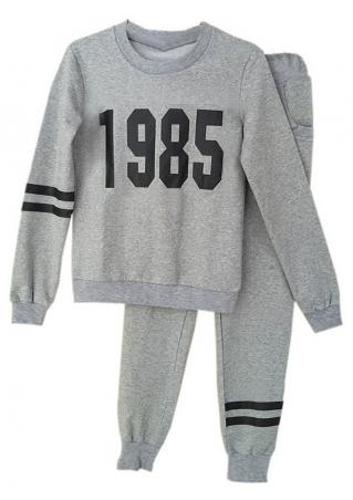 Number Sport Sweatshirt and Pants Set