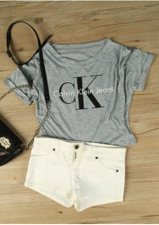 CK casual Crop Top