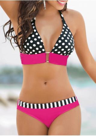 Polka Dot Halter Sexy Bikini Set