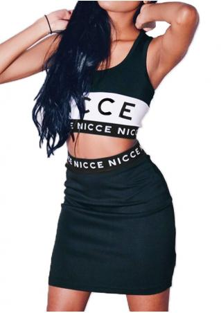 Nicce Crop Top and Dress Set