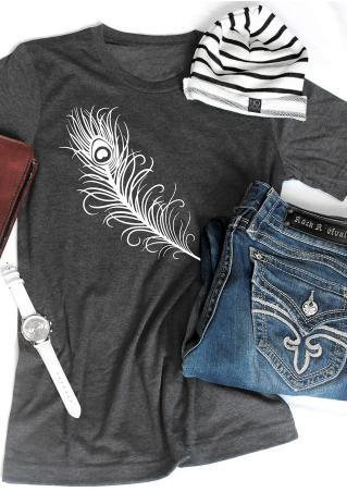 Feather Short Sleeve T-Shirt