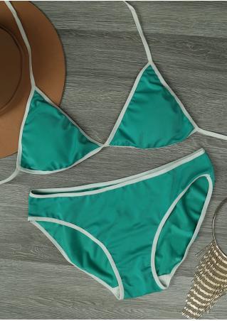 Color Block Sexy Bikini Set