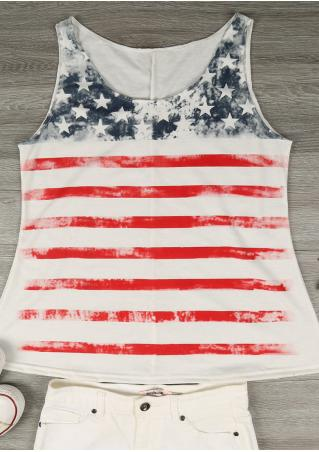 American Flag Casual Tank