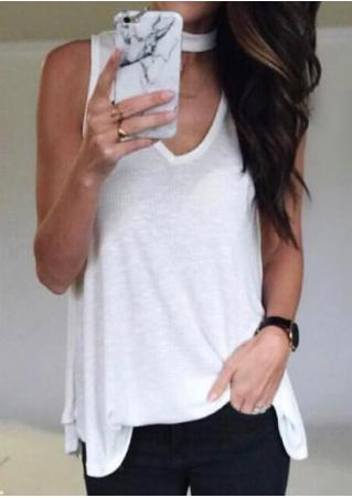 Solid Tank With Choker Detail