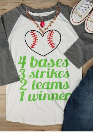 4 Bases 3 Strikes 2 Teams 1 Winner Baseball T-Shirt