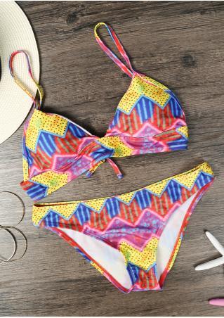 Multicolor Geometric Chic Bikini Set