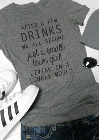 7c28d1048 After a Few Drinks T-Shirt - Bellelily
