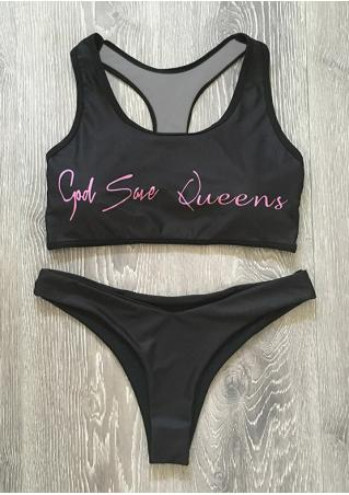 God Save Queens Bikini Set