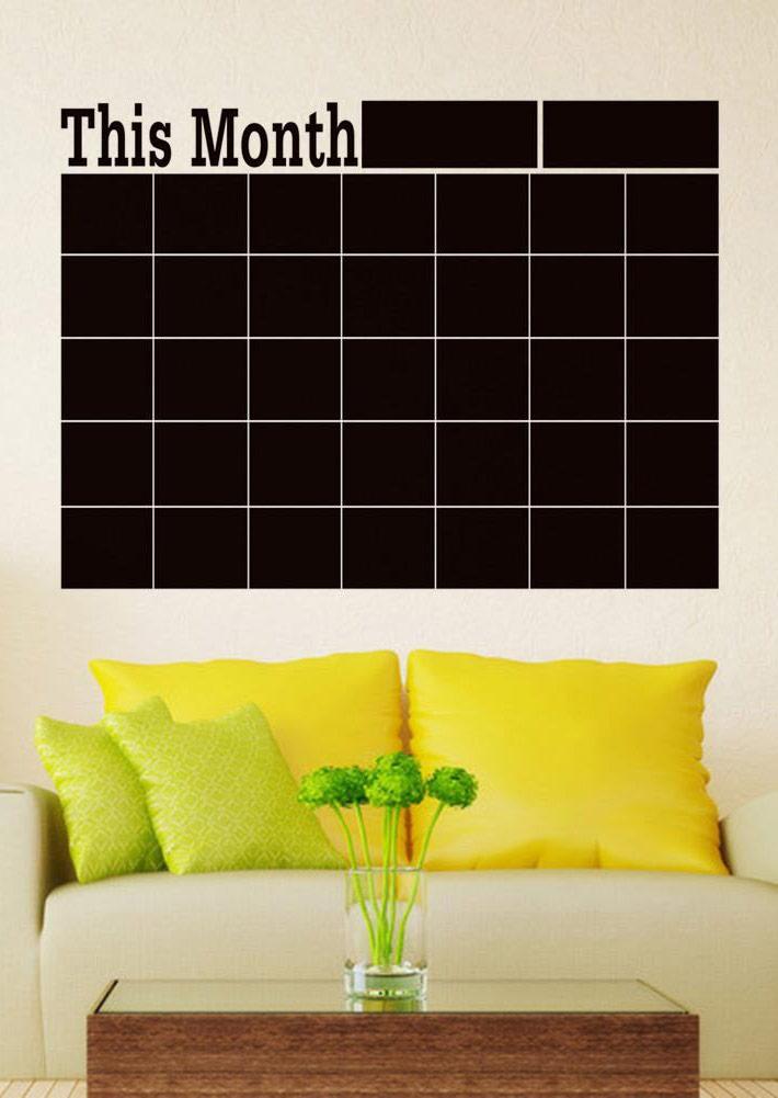 chalk blackboard wall sticker calendar bellelily
