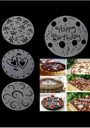Flower Heart Cake Print Stencils Mould