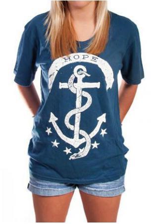 Hope Printed O-Neck T-Shirt