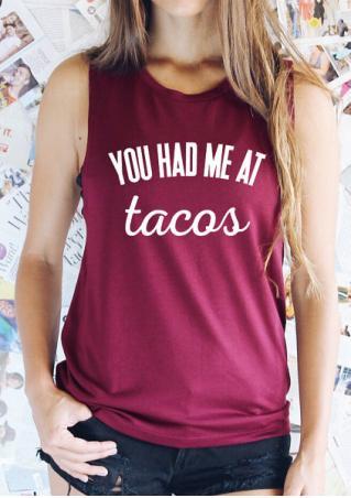 You had Me at Tacos Tank