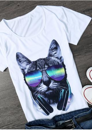 Cat Lion Skull Short Sleeve T-Shirt