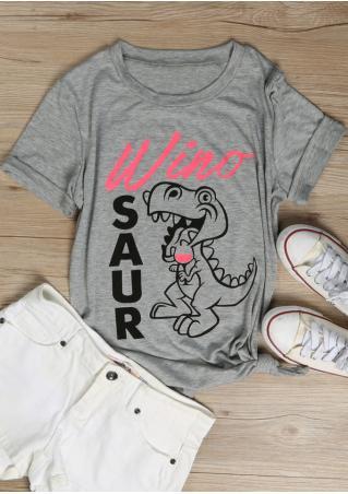 Winosaur Dinosaur T-Shirt