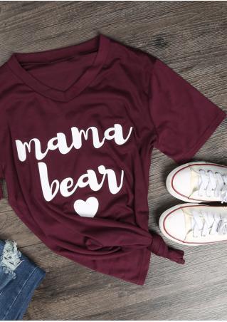 Mama Bear Heart T-Shirt