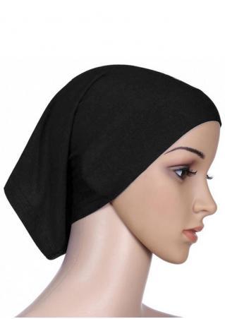 Solid Muslim Kerchief Hat