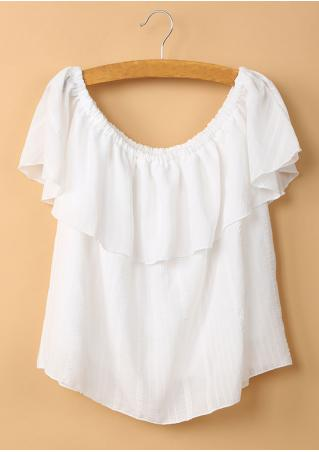 Solid Ruffled Blouse