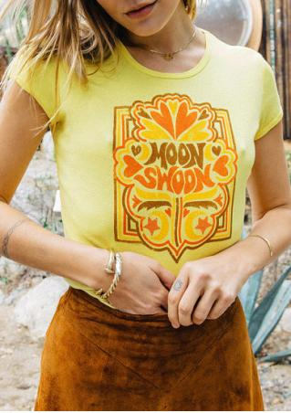 Moon Swoon Printed T-Shirt without Necklace